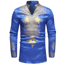 Longline African Dashiki Shirt Men 2018 Autumn New Stand Collar Long Sleeve Dress Shirt Men Traditional African Clothing Camisas
