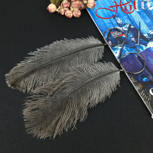 MANILAI 4 Colors Real Ostrich Feather Bohemian Long Earrings Women Ethnic Jewelry Statement Drop Dangle Earrings 2018 Fashion