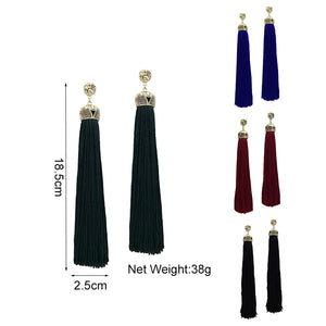 MANILAI 4 Colors Vintage Bohemian Long Tassel Earrings For Women Fashion Jewelry Statement Dangle Earrings 2018 Ethnic Earrings