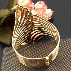 MANILAI Fashion Punk Design Alloy Wing Cuff Bangle For Women Charm Jewelry Gold Color Wrap Bracelets Fashion Accessories BL354