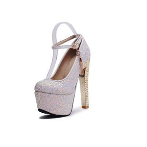 MEMUNIA sexy high heels shoes women fashion buckle glitter women pumps summer shoes simple classic new arrive single shoes