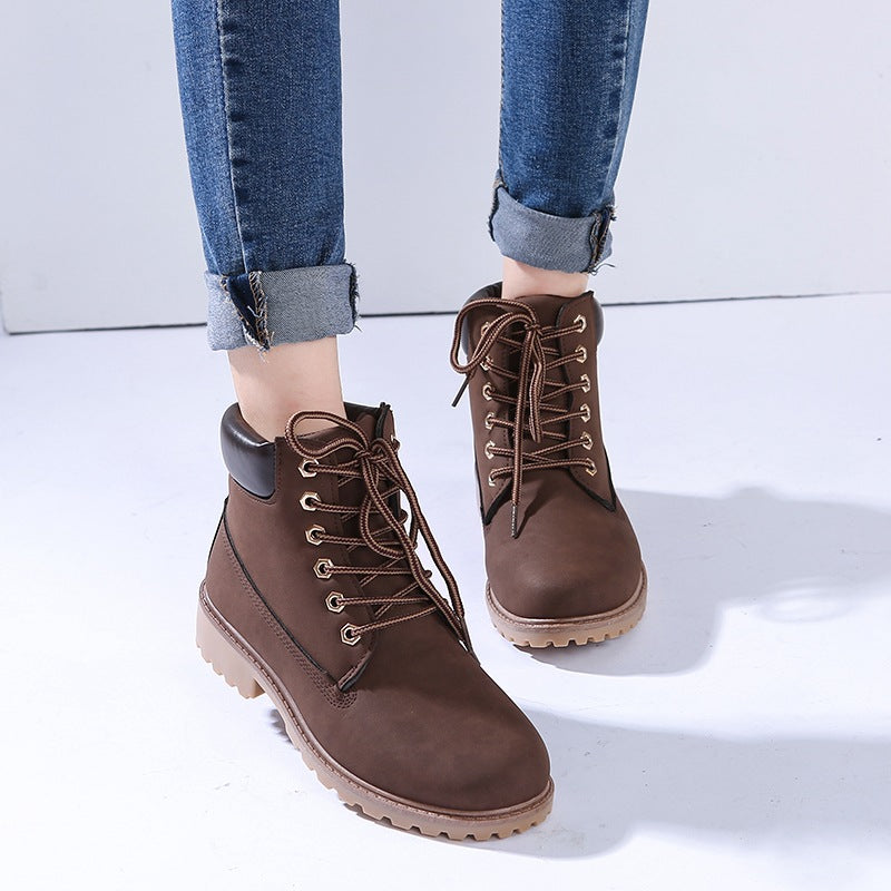 Men Shoes Ankle Boot Flat Heel Snow