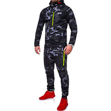 Men Sport Set Camouflage Tracksuit Male Hoodie Sport Casual Trouser for Mens