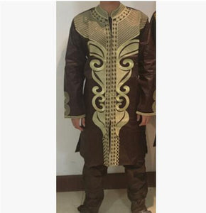 Mens traditional african clothing Plus size african clothing Bazin riche Long sleeve 2016 100% cotton Embroidery