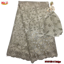 Latest 2017 Tulle Lace Fabric Double Color Nigerian French Tulle Lace Fabric With Stones Embroidered African Lace Materials