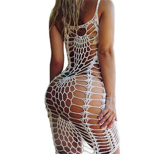 New 2018 Cover Ups Summer Women Beach Fish Net  Sun Loose Sleeveless Swimwear Swimming Suit