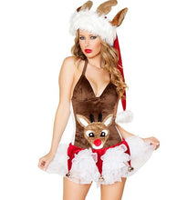 New Arrival Christmas Dress Women Christmas Costume For Adult 2017 Red Velvet Fur Dresses Hooded Sexy Female Santa Claus Costume