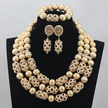 New Dubai Gold Women Bridal Statement Necklace Set African Nigerian Wedding Jewelry Set Party Gift