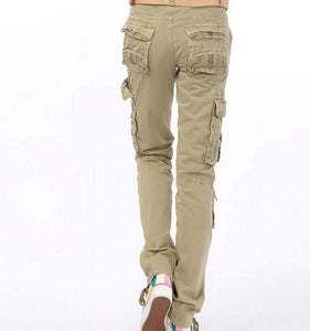 New arrival Women's  Cargo Pants Leisure Trousers  Leisure more Pocket pants Woman Bottoms