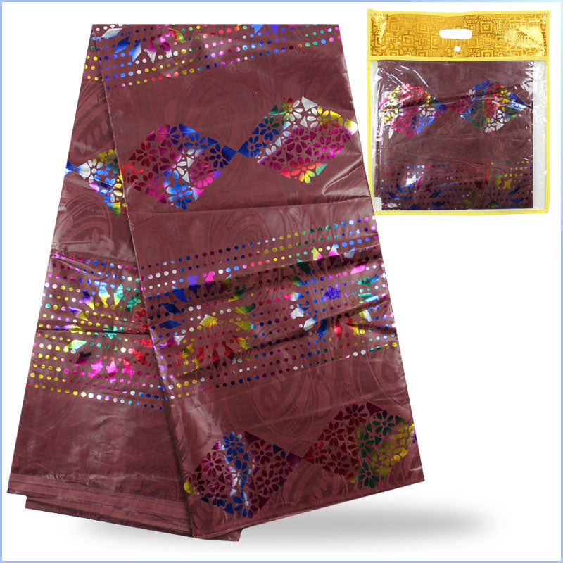 New to cheap hot stamping guinea brocade fabric jacquard Africa bazin riche  African clothing lace fabrics