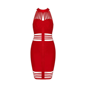 Nieuwe Celebrity Party Bodycon Bandage Jurk Vrouwen Mouwloze Off Shoulder O-hals Hollow Out Sexy Club Jurk Vrouwen Vestidos