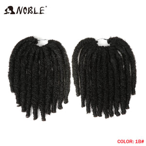 Noble 10 Inch 20strand Faux Locs Crochet Braids Hair Synthetic Braiding Soft Dread Hair Extensions High Temperature Fiber