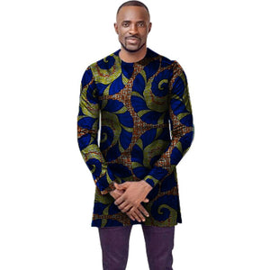 O-neck african t-shirt men fashion african print dashiki tops custom long sleeve african clothes tailored africa clothing