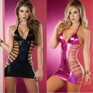Porno Hot Sexy Erotic Lingerie Women Party Dress Leather Latex Lingerie Sexy Hot Erotic Club Dress Costumes Catsuit Underwear