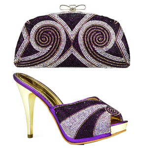 Purple Color Italian Shoes and Bag To Match Shoes with Bag Set Matching  Italian Shoe and 8ea7c97c1eea