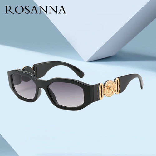 ROSANNA New Fashion Sunglasses For Women In 2019 Punk Small Frame Men Sunglasses Blue Black Leopard-print Glasses UV400