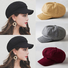 Retro Women Solid Color Beret Hat Winter Spring Warm Wool Baret Cap Elegant Female French Hats Vintage Artist Caps Boina