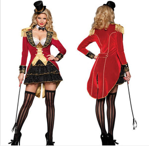 Ringmaster Costume Adult Sexy Naughty Circus Ringleader Halloween Costumes for Women Harley Quinn Cosplay Jumpsuit Costume