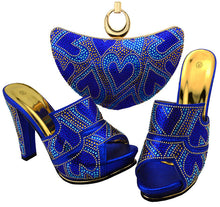 Royal Blue Shoes and Bag Sets for Women Italian Matching Shoes and Bag Set African Women Italian Shoe and Bag Set for Wedding