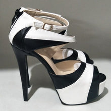 SHOFOO shoes. Novelty   fashion free shipping , leather fabric, 14.5 cm high heel sandals, women's sandals. SIZE:34-45