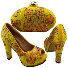 Shoes and Bag Set Yellow Shoes and Bag Set African Sets 2017 Italian Shoes with Matching Bags for Women Nigerian Shoes and Bag
