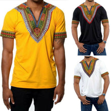 T-shirt Men 3d T Shirt V Neck T Shirts For Men T Shirt Dragon Ball African Tribal Shirt Men Dashiki Print Hippie Top Blouse