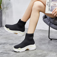 Tangnest Comfortable Ankle Boots Platform Women Short Sock Boot Casual Sneakers Fashion Candy Colors Shoes Woman XWX6927