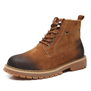 The new Martin Chelsea high boots male British Leather Men's shoes retro boots desert boots