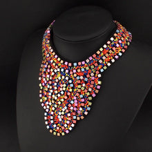 UKEN Exaggerate Boho Style National Hand Made Collar For Women Dress Colorful Beads Choker Statement Necklaces Maxi Jewelry