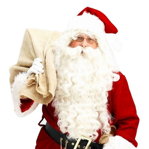 Vestido 2018 Santa Claus Wig and Beard Set Costume Accessory Adult Christmas Gifts Fancy Xmas Drop shipping Fashion Gift