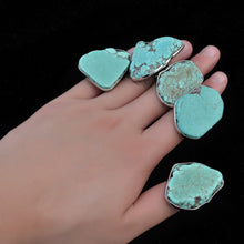 Vintage Tibetan Irregular Geometric Silver Alloy Green Stone Rings For Women Bohemian Party Indian Jewelry Gifts Anel Feminino
