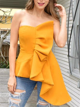 Women Blouse Tops Shirts Off Shoulder Backless Sexy Ruffles Slim Party Wear Summer New Fashion Elegant Lady Bluas Drop Shipping