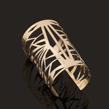 Wide open gold cuff bracelet jewelry bracelets bangle pulseiras de ouro for women Luxury brand united nations costumes