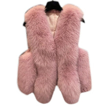 Winter Faux Fur Vest Women Jacket Coat Thick Warm Faux Fur Vest Outerwear Womens Faux Fox Fur Coat Female Plus Size 3XL Z4