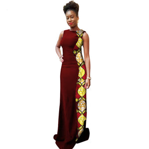 Women African Clothing African Dresses Limited 2017 New Elegent Cotton Batik Print Dress Women Clothing