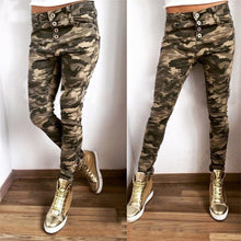 Women Army Green Pencil Pants Sexy Bodycon Casual Long Pants 2016 Newest Women Chic Camouflage Pants Autumn Trousers