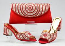 Women Shoes and Bag Set In Italy Red Color Italian Shoes with Matching Bags High Quality African Women Wedding Shoes and Bag Set