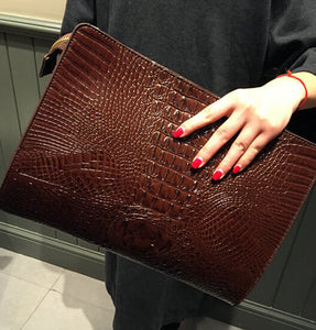 Women's crocodile leather handbags tote bag party evening bags Female day clutch wristlets bags for women messenger bags Purse