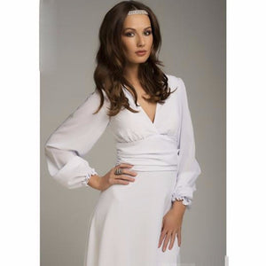 Womens Sexy Deep V-neck Summer Long Sleeves Elegant Work Business Casual Party White Sheath Bodycon Pencil Dresses Plus Size