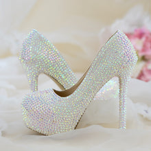 Womens wedding shoes woman High heels Pumps Bling Shining Platform shoes Ladies Party dress shoes New arrival fashion high shoes