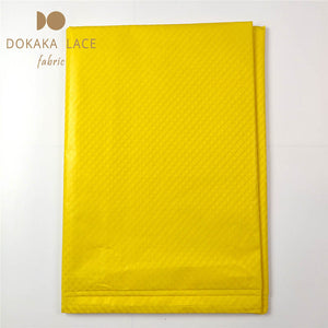 Yellow Senegal Guinea Bazin Riche Fabrics With Jacquard Pattern Indian Women Daily Dresses Design 5 Yards Basin Material Fabric