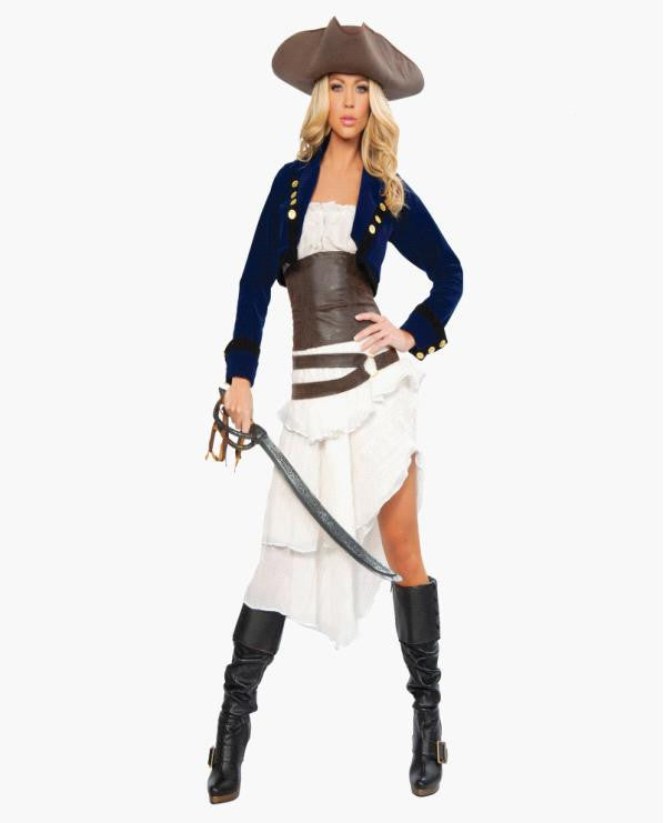 Deluxe Colonial Pirate Costume, New Arrival Pirate costumes for women Sexy Adult Halloween Costume