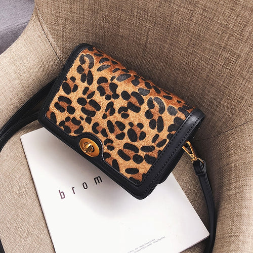 shaped small flap bag for women 2018 Leopard zebra pattern handbags small lock s shoulder bags female crossbody bag drop ship