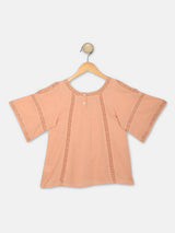Mini Macroons Girl Pink Color Casual wear Top For summer 100% Cotton