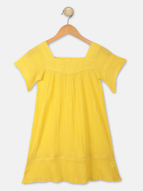 Solid Yellow Dress