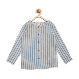 Blue Regular Fit Casual Shirt