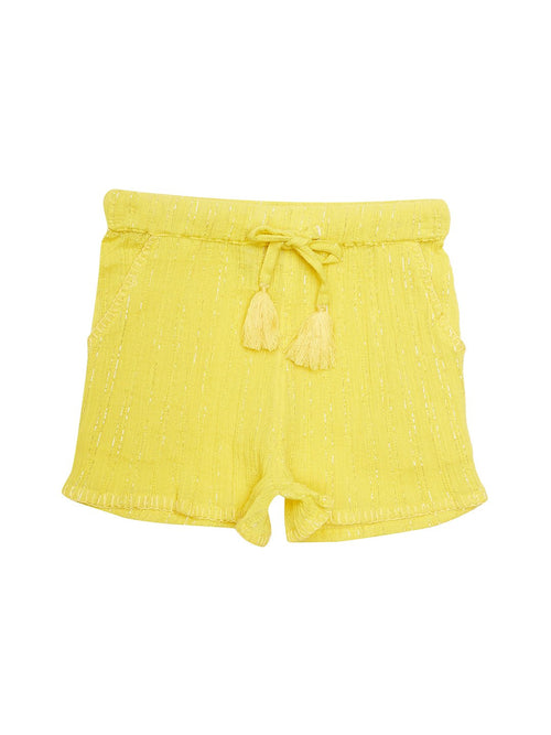 Solid Yellow Shorts
