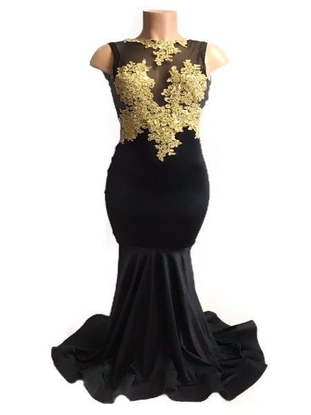 Jazmine Applique Gown