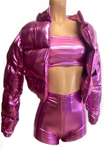 Metallic Bubble Jacket