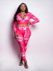DF Exclusive Pink Logo Pants Set